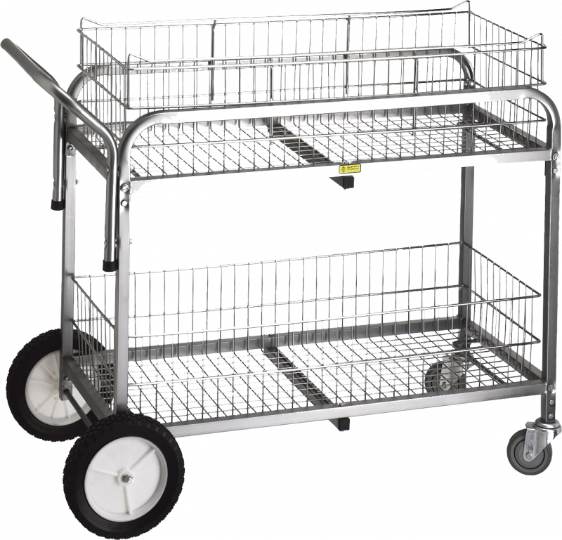R&B Wire #510 Large Capacity Utility Cart - Chrome