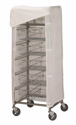 R&B Wire - R&B Wire #1050 Cover for 1006 Resident Item Cart - White