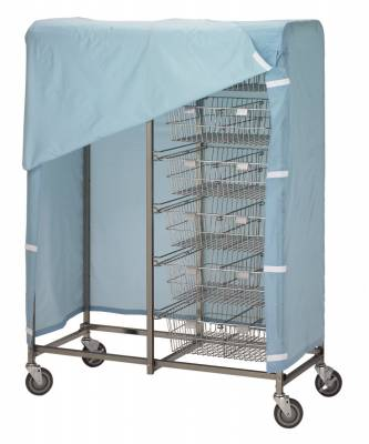 R&B Wire - R&B Wire #1051 Cover for 1012 and 1014 Resident Item Carts - Blue