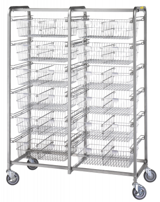R&B Wire - R&B Wire #1012 Twelve Basket Resident Item Cart