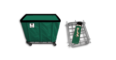 """R&B Wire - R&B Wire #408KD 8 Bushel """"UPS/FEDEX-ABLE"""" Truck - Forest Liner, 3"""" Casters, Corner (All Swivel)"""