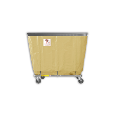 "R&B Wire - R&B Wire #406SOB 6 Bushel Permanent Liner Basket Truck with Bumper - Beige Liner, 3"" Casters, Corner (All Swivel)"