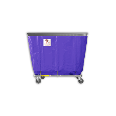 "R&B Wire - R&B Wire #406SOB 6 Bushel Permanent Liner Basket Truck with Bumper - Punky Purple Liner, 4"" Casters, Diamond (2 Swivel & 2 Rigid)"
