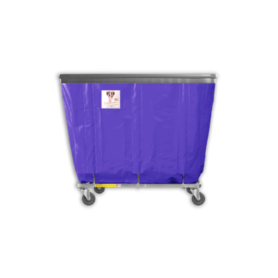 "R&B Wire - R&B Wire #408SOB 8 Bushel Permanent Liner Basket Truck with Bumper - Punky Purple Liner, 3"" Casters, Corner (2 Swivel & 2 Rigid)"