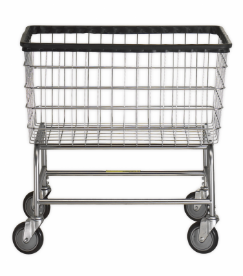 R&B Wire - R&B Wire #200F Large Capacity Laundry Cart - Beige Base, Chrome Basket