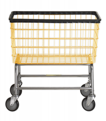 R&B Wire - R&B Wire #200F Large Capacity Laundry Cart - Chrome Base, Almond Basket