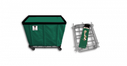 "R&B Wire - R&B Wire #408KD 8 Bushel ""UPS/FEDEX-ABLE"" Truck - Forest Liner, 4"" Casters, Corner (2 Swivel & 2 Rigid) - Image 1"