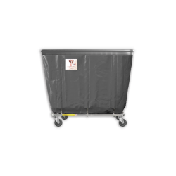 "R&B Wire - R&B Wire #406SOB 6 Bushel Permanent Liner Basket Truck with Bumper - Gray Liner, 4"" Casters, Corner (2 Swivel & 2 Rigid) - Image 1"