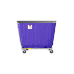 "R&B Wire - R&B Wire #406SOB 6 Bushel Permanent Liner Basket Truck with Bumper - Punky Purple Liner, 4"" Casters, Corner (2 Swivel & 2 Rigid) - Image 1"