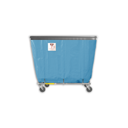 "R&B Wire - R&B Wire #406SOB 6 Bushel Permanent Liner Basket Truck with Bumper - Blue Liner, 3"" Casters, Diamond (2 Swivel & 2 Rigid) - Image 1"