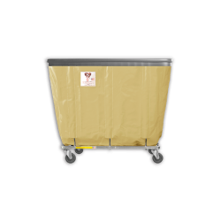 "R&B Wire - R&B Wire #408SOB 8 Bushel Permanent Liner Basket Truck with Bumper - Beige Liner, 3"" Casters, Corner (All Swivel) - Image 1"