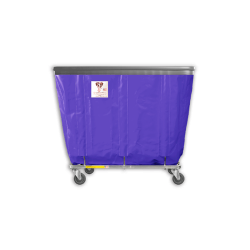 "R&B Wire - R&B Wire #408SOB 8 Bushel Permanent Liner Basket Truck with Bumper - Punky Purple Liner, 4"" Casters, Corner (All Swivel) - Image 1"