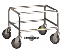 R&B Wire - R&B Wire #100E Standard Laundry Cart - Chrome Base, Almond Basket - Image 2